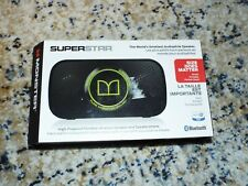 monster: Superstar bluetooth speaker black and green new in box