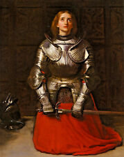 Saint Joan Of Arc French Warrior Painting 8x10 Real Canvas Giclee Art Print
