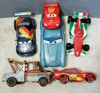 "Disney Cars 2 Lights Sound Lot 12"" Finn McMissile Mater Francesco McQueen Max"
