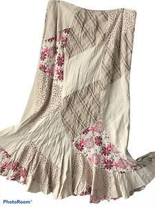 🌺Per Una Skirt UK 16 Beige Patchwork Lagenlook Steampunk Victoriana🌺