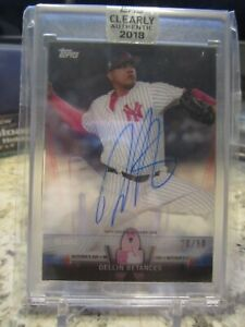 Dellin Betances 2018 Topps Clearly Authentic Salute Auto Red