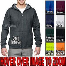 BIG MENS Hooded Sweatshirt Zippered Hoodie Full Zip Hoody 2XL, 3XL, 4XL, 5XL