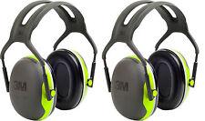 2 Stück PELTOR X4A Gehörschutz Vorteilspaket 35dB Bügelgehörschutz schwarz/grün