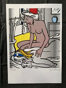 ROY LICHTENSTEIN old litho- Hand signed in pencil - NUDE SERIES