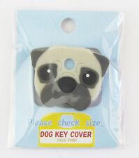 Dog Key Cover - Pug (Fawn)  Approx 2.5cm x 3.5cm