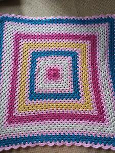 Small Crochet Blanket, Handmade