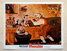 "Vintage Disney Pinocchio Art Print / Movie Theater Lobby Card (11"" x 14"")"