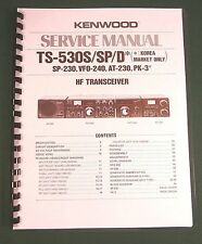 """Kenwood TS-530S/SP Service Manual 11"""" X 17"""" Foldout Schematics & Plastic Covers"""