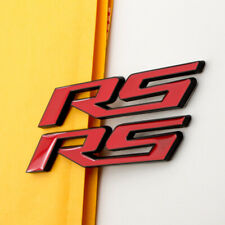 2pcs RS Letter Emblem Badge Red with Black Edge Decal Stickers for Chevrolet