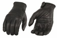 Men's Premium Leather Riding Glove w/ Flex Knuckles & Gel Palm - MG7535
