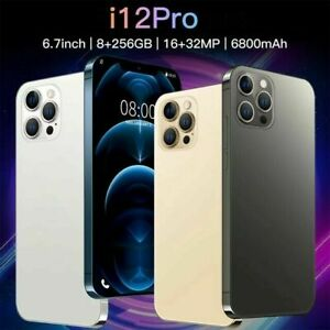 New Unlocked I12 Pro Max Android 10.0 Smartphone 8 GB 256 GB 16MP+32MP 6.7inch