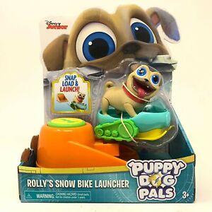Puppy Dog Pals Figures Rolly's Snow Bike Launcher Disney Junior Pre-School NEW