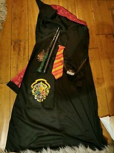 Harry Potter Children's Dress Up Costume Age 5-6 with access wand, tie & snitch
