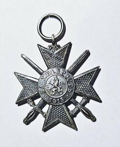 Bulgarien 1915 Orden WK1 Militärverdienstkreuz Schwerter versilbert Abzeichen