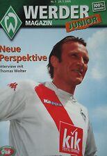 Werder Magazin Junior Nr. 1 / 29.7.2005 Werder Bremen