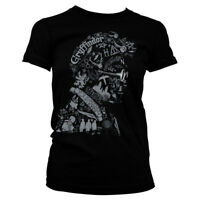 Harry Potter Wordings and Symbols face Official Hogwarts Black Womens T-shirt