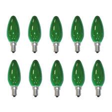 10 X SYLVANIA Ampoule bougie 40W E14 vert lampes à incandescence