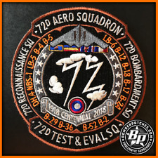 72d TEST AND EVALUATION SQUADRON 100TH ANNIVERSARY PATCH, B-2 WHITEMAN AFB Color