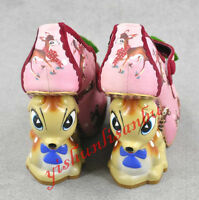 Chic Women Animal Party Cute Deer Wedge Heel Cosplay Wedding Pumps Shoes Fashion