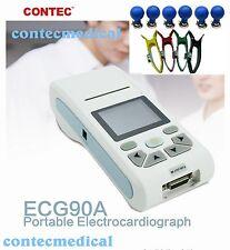 new Contec LCD Touch ECG/EKG Machine ECG90A, 3/6/12-lead ECG Display,Printer&SW