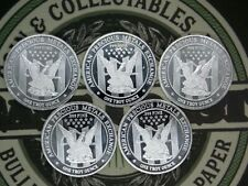 (Lot of 5) 1oz Silver Round .999 Fine East Coast Coin & Collectables, Inc.