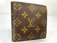 Auth Louis Vuitton Monogram Portofille Marco N61675 Leather Wallet 59613704
