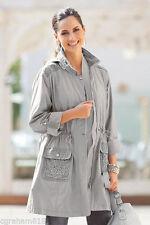 Zip Knee Length Checked Coats & Jackets for Women
