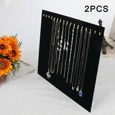 Black Velvet Necklace Chain Stand Jewellery Holder Shop Display Bust Elegant 2P