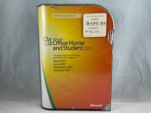 Microsoft Office Home and Student 2007 w/ Product Key Full Version Sealed