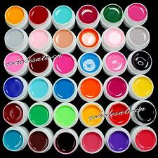 36 PCS Solid Pure Mix Color UV Builder Gel Acrylic Set for Nail Art Tips