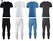 Mens Thermal Long Johns Short Sleeve T-Shirts Winter Warm Thermal Quilty lot siz