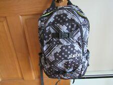 Burton Backpack Laptop Ski Hiking Bag Black White Paisley