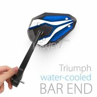 Bar End Mirrors ViperII Blue Sturdy for Triumph Water-Cooled Motorcycles ε
