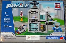 Small Police Station BricTek Building Block Construction Toy Brick 11006