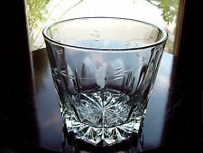 Vintage ETCHeD~CuT FLoWeR~Leaf~Vine Glass Ice Bucket ~ Wine Cooler ~ Chiller