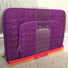 """KATE SPADE 15"""" TABLET IPAD MACBOOK QUILTED NYLON ZIP AROUND CASE WITH ORGANISER"""