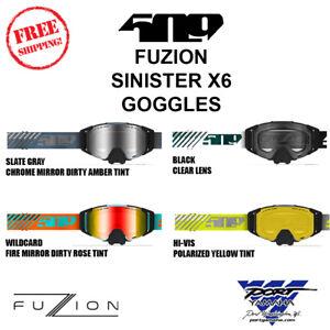 Sinister X6 Fuzion Goggles  Wildcard Hi-Vis Slate Gray Black