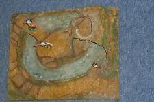 Alte Lisanto Landschaft mit Insel & Höhle für Masse & Gummi Cowboys Indianer Rar
