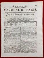 États Généraux 1789 Versailles Louvetier Fauconnier Chasse Révolution Française