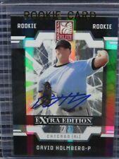 2009 Donruss Elite Extra Edition David Holmberg Rookie Auto #/710 White Sox C134