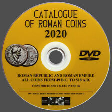 ROMAN COINS CATALOG 2020 ON DVD - ORIGINAL - ENGLISH LANGUAGE