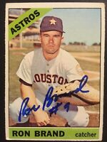 Ron Brand Astros Signed 1966 Topps Baseball Card #394 Auto Autograph