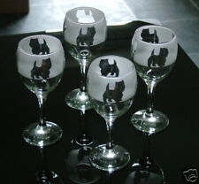 More details for west highland white terrier dog gift wine glasses.  boxed