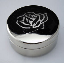 Alpha Omicon Pi  Engraved Rose Small Jewelry/Pin Box By McCartney