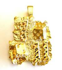 7/11 Good Luck Dice Pendant Gold Plated Nugget Charms For Necklaces & Bracelets