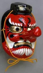 Japanese Tengu Mask Omen Noh Kabuki Demon High Quality Made in Japan