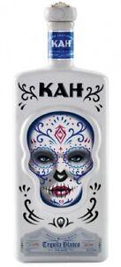 (57 €/L) KAH Tequila Blanco / Square Bottle mit Totenkopf / 700ml 40%