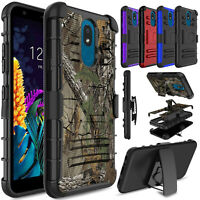 For LG Aristo 4+/Tribute Royal/Journey LTE/Prime 2 Stand Clip Holster Case Cover