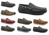 GBX Mens Ludlam Casual Moc-Toe Slip-On Boat Shoe Driving Loafers