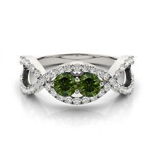 1.28 Carat Green VS2-SI1 Diamond Solitaire Engagement Ring 14k White  Gold